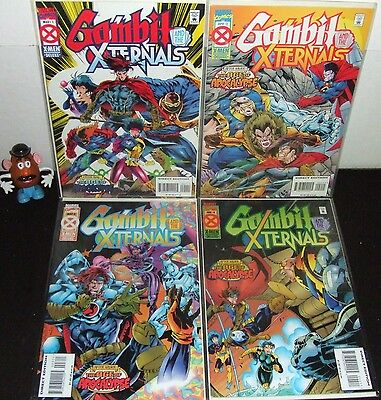 Gambit And The Xternals Full Set #1 2 3 4 Marvel '95 Age Of Apocalypse Event Nm-