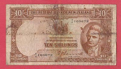 1940/55 New Zealand 10 Shilling Note