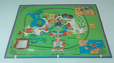 Vintage 1974 Walt Disney World Detailed Map