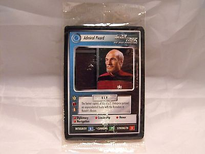 Star Trek Ccg 2 Player Game, Federation Set Of 4 Cards