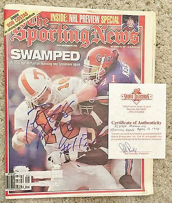 AUTOGRAPH 1997 Peyton Manning AUTO Tennessee Volunteers football Colts Broncos