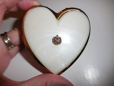 Vintage Heart Shaped Powder Make up Compact As Is