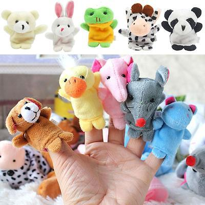 10pcs Baby Toy Finger Puppet Cloth Plush Doll Educational Hand Cartoon Animal BY