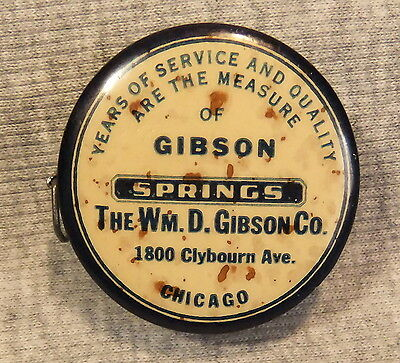 Vintage Advertising Pocket Tape Measure ~ W D Gibson Co Springs ~ Chicago IL