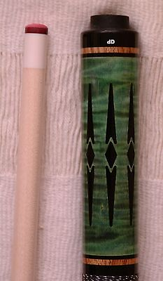 Dale Perry Custom Pool Cue 1/1   Ghastly Green Curly Maple Stage IV Upgrade