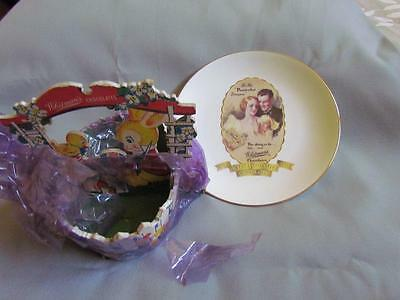 Vintage Whitman's Chocolates Easter Basket and Anniversary Plate