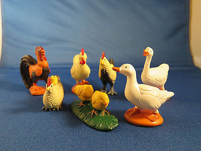 Safari Ltd. Rooster Chickens Hen With Chicks Duck Goose Animals
