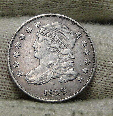 1829 Capped Bust Dime 10C 10 Cents - Nice Old Coin, Free Shipping  (6126)