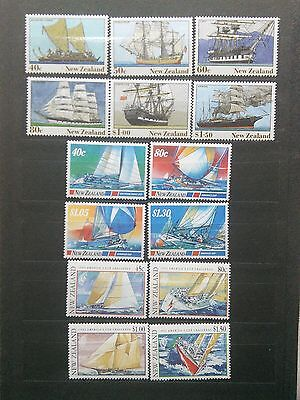 New Zealand lot of 3 mint NH complete sets