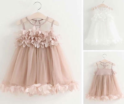Baby Girl Toddler Dress Sleeveless Summer Princess Party Pageant Wedding Tutu