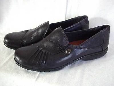 Cobb Hill Navy Blue Leather Slip-On Shoes Womens Size 10 M