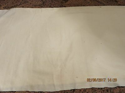"1890""s Linsely   Fine Cream Wool  Antique Doll  Slip Craft  Penny Rug"