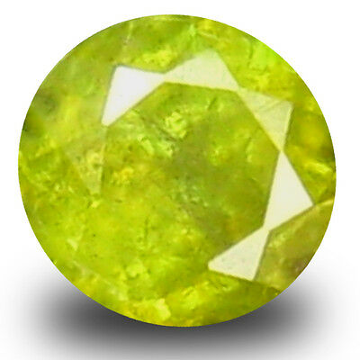 0.32 ct Excellent Round Cut (4 x 4 mm) Green Un-Heated Sphene Natural Gemstone