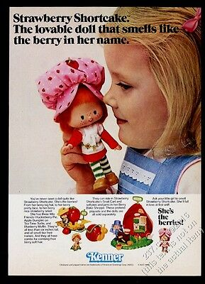 1980 Kenner Strawberry Shortcake doll and girl photo Kenner vintage print ad