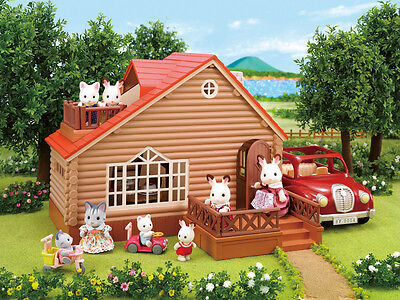 SALE Sylvanian Families Log Cabin - 2017 MODEL FREE POST NK