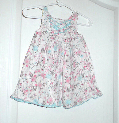 Piper & Posie Floral Butterfly Print Dress Size 3-6 Months Summer Easter