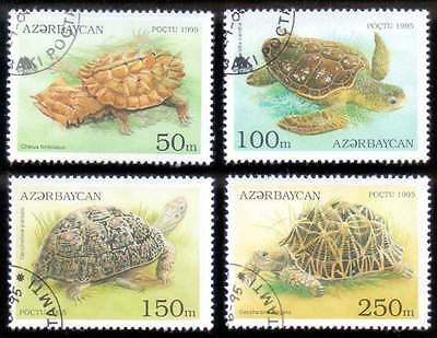 AZERBAIJAN (11/1) 1995 Turtles Reptiles 4 Diff. Stamps ! Gift Your Children !