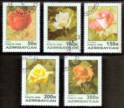 AZERBAIJAN (14/1) 1996 Rose Flowers 5 Diff. Stamps ! Gift Your Children !
