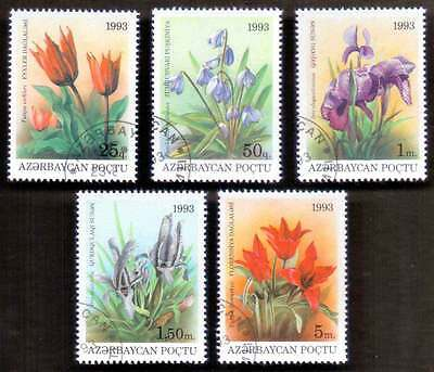 AZERBAIJAN (02/1) 1993 Flowers 5 Diff. Stamps ! Gift Your Children !