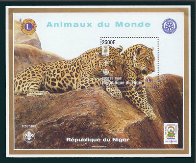 (007) NIGER 1998 Year of the Tiger Wild Animals Scouts Lions Club S/S Sc#1007