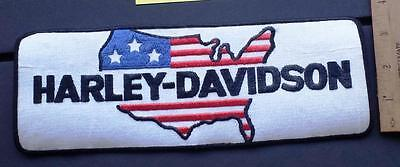 """Vintage Harley-Davidson USA Country Iron/Sew on Large Patch 10 5/8"""" x 3 3/4"""""""