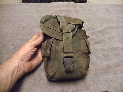 US Military Issue Woodland Camo MOLLI Canteen Pouch with Canteen