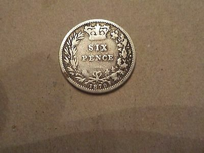 1879 sixpence no die number