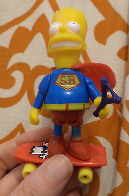 Simpsons early 1990 Argentina Mattel very rare Super Bart man + accessories