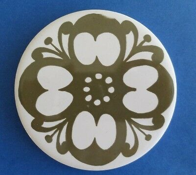 Jersey Pottery Coaster in Green and White