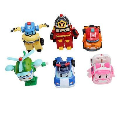 Cute Robocar Transformer Robot POLI ROY HELLI AMBER Korean Animation Car Toy LG