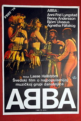 Abba Movie Sweden Svensk Lasse Hallstrom 1978 Rare Exyu Movie Poster