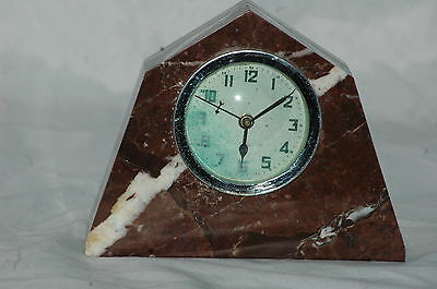 Small Antique French Deco Marble Mantle Clock.restore.
