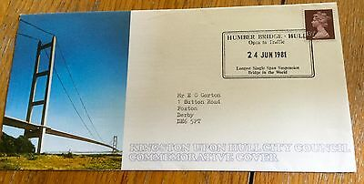 Signed First Day Cover Opening Of The Humber Bridge