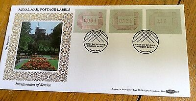 Benham First Day Cover Postage Labels  Limited Edition