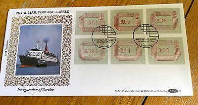 Benham First Day Cover Postage Labels  Limited Edition Cunard Qe2