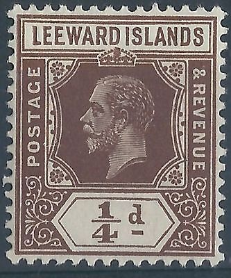 q183) Leeward Islands. 1912/22. MNH. SG 46 1/4  Brown.  Royalty.