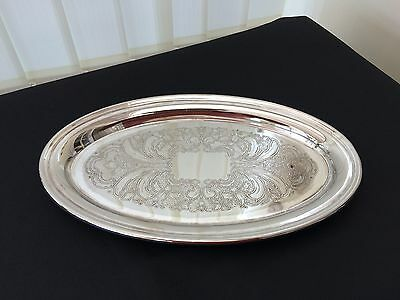 vintage - retro viners sheffield alpha plated oval tray