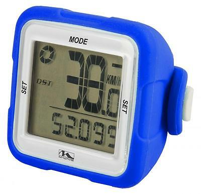 M Wave XIV Bike Cycle 14 Function Wireless Digital Computer Silicone Blue CP713