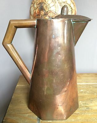 Arts and Crafts Copper Coffee/Water Pot Octagonal Base