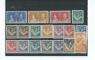 A Nice Selection Of M/ M Northern Rhodesia Stamps