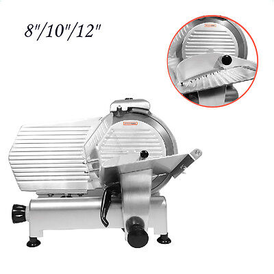 """8""""/10""""/12"""" Blade Commercial Meat Slicer Deli Meat Cheese Food Slicer Industrial"""