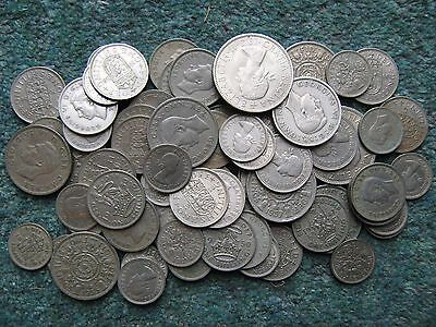 70 SHILLINGS FACE VALUE OF STERLING CURRENCY Sixpences to Halfcrowns