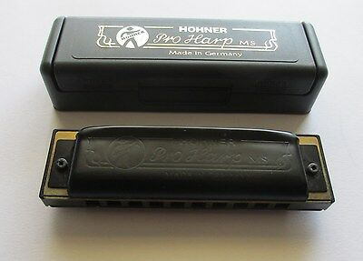 Hohner Pro Harp MS Harmonica 562/20 (Key of D)  Made in Germany- With Case