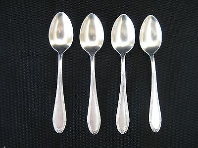 German SP Demitasse Spoons - Set of 4, marked WMF, circa 1940s   (7285)