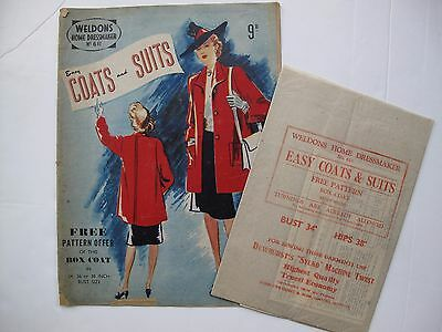 WELDONS HOME DRESSMAKER No. 611 - EASY COATS and SUITS with pattern. Early 1940s