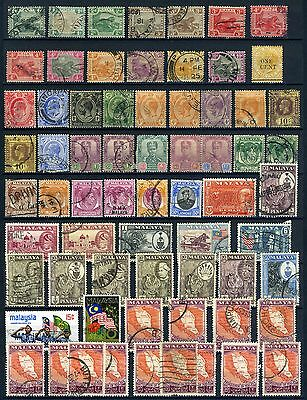Malaya small selection from the1900's used