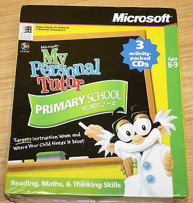 My Personal Tutor Primary School Years 2-4  Microsoft CD-ROM - New & Sealed