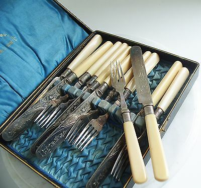 Beautiful Vintage Silver Plated Epns A1 Cutlery  In Original Box
