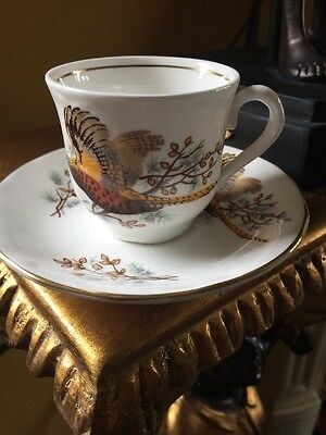 Royal Worcester Palissy  Miniature Cup And Saucer: Vintage