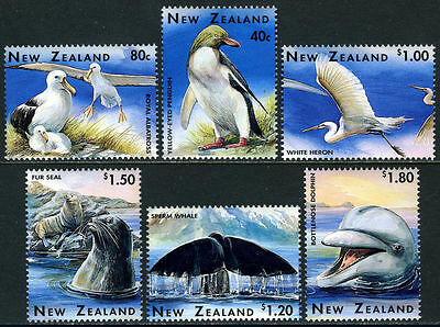 Mint 1996 New Zealand Nz Wildlife Complete Set Of 6 Penguin,whale,seal,dolphin